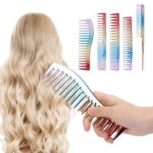 5adet Uzay Alüminyum Renkli Gradient Saç kesimi Tarak Salon Kuaförlük Tarak Şekillendirici Aracı Bun Maker Gizli Aksesuarları
