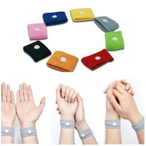 Anti Übelkeit Handgelenkstütze Sport Cuffs Sicherheit Armbänder carsickness Seasick Anti Reisekrankheit Bewegung Krank Wrist Bands AHB2101