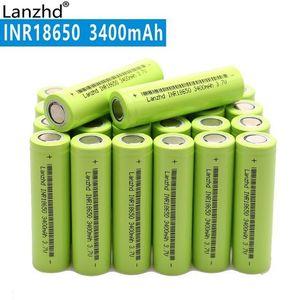 Batteries rechargeables rechargeables Nouveau 18650 3.7v 3400mAh Original InR18650 rechargeable Li-ion 30A Grande batterie de courant pour ordinateur portable mobile ...