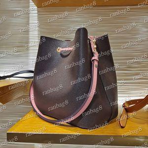 16 Farben Frauen Eimer Umhängetaschen Escale Neonoe Crossbody Tasche Echtes Leder Handtaschen Verstellbarer Riemen Neue Mode Taschen