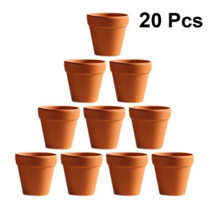 20pcs Red Pottery Flower Pot Terracotta Plant Pot With Hole Pottery Clay Planters for Cacti and Succulent Plants (3 x 3cm) Y200709