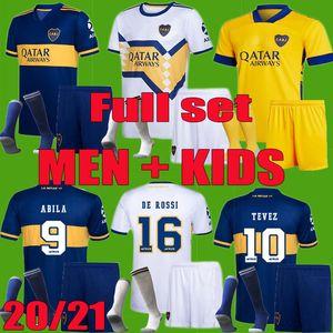 80. 20 21 Third Boca Juniors Bombonera-Fußball Jerseys 2020 2021 CARLITOS PEREZ DE ROSSI TEVEZ PAVON Fußballhemd Männer Kinder Kits Uniform