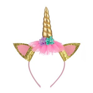 يونيكورن رئيس طارة العديد من الألوان هالوين دبوس الشعر الأطفال لعب عيد ميلاد مهرجان حزب الطفل الشعر هوب المصنع مباشرة بيع 3 8LTA P1