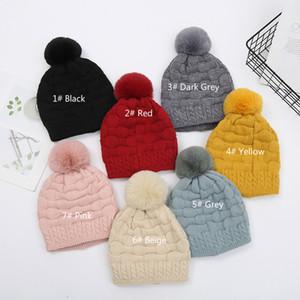 Womens Winter Beanie Hat Puff Stitch Crochet Bubble Hats Bonnet Warm Fleece Lined Knitted Soft Ski Cuff Cap with Pom Pom