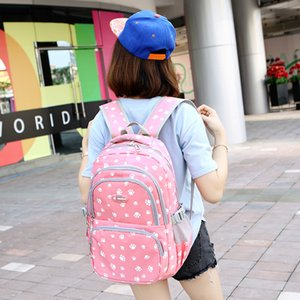 school men's and women's laptop bag middle Korean backpack student bag University bag