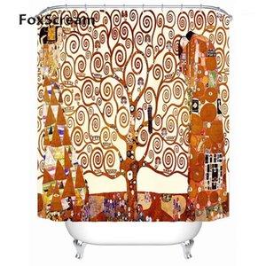 Gustav Klimt Душевая Занавеска Ванна Для Ванной Водонепроницаемый Большой Занавес Душ Фрикал Шторы1