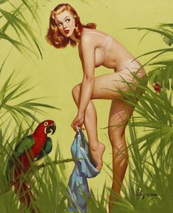 Gil Elvgren Canvas Art Pin Up Girls Home Decoration Oil Painting On Canvas Wall Art Canvas Picture For Wall Decor 201024