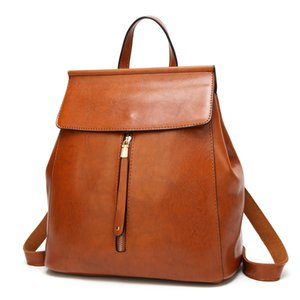 Simple Designers Leather Versatile Backpack NEW 2020 Fashionable Retro Women's PU Backpack Luxurys Backpack Bags Fashion Bag Irvei