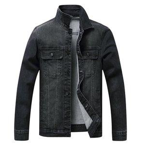Men Spring Jean Jacket Cowboy Coat High Quality Autumn Style Beggar Hole Denim Jacket Loose Thin Sleeve Cowboy