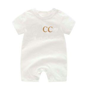 جديد جودة عالية أزياء الوليد الرضع طفل الفتيان والفتيات رسالة رومبير مصمم جديد ملابس الطفل 100٪ قطن العلامة السريعة