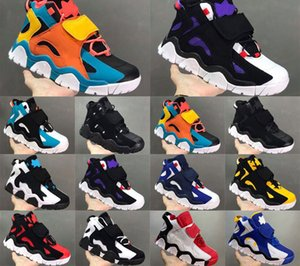2020 hight Quality Mens Basketball Shoes Airs Barrage Mid QS Black HyperGrape Women Trainers Sports Sneakers Size 40-47