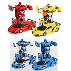 2in1 RC Car Toy Transformation Robots Car Driving Vehicle Sports Cars Models Remote Control Car RC Toy Gift for Boys Toy