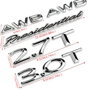 Car Styling 2.7T 3.0t AWD Lettera presidenziale 3D Metal Car Sticker Emblem Badge Decalcomania per Lincoln Mkz MKC MKX Navigator MKT MKT