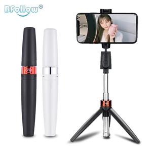 Bfollow 3 em 1 Selfie Stick Tripod Bluetooth Telefone Celular Suporte para iPhone Huawei Shoot Video Chamada Youtuber Vlogger Q0109