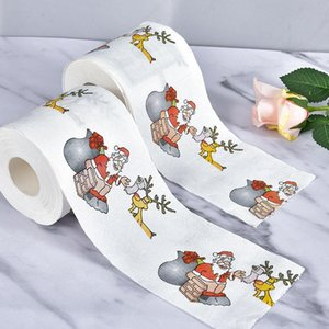 NEW Christmas Pattern Series Roll Paper Christmas Decorations Prints cute Toilet Paper Decorations For Home HOT