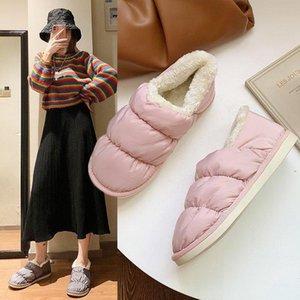 LYXLYH 2020 caldi scarpe invernali appartamenti delle donne di morbida pelliccia imbottito in cotone Scarpe Donna Slip On Breve caviglia Snow Boots Taglie WFS2024