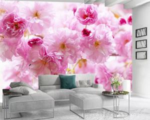 Custom 3d Flower Wallpaper 3d Bedroom Wallpaper Delicate Pink Flowers Romantic Flora Decorative 3d Wallpaper