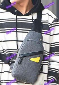 New style men's messenger bag messenger chest bag men's fashion travel leisure mobile phone bust wallet black grey camouflage black.