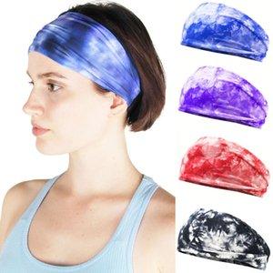 1PCs Tie Dye Cycling Yoga Sport Sweat Headband Men Sweatband Unisex Men Women Yoga Hair Bands Head Sweat Bands Sports Headwear