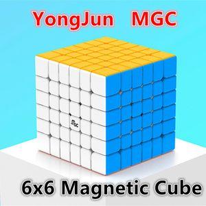 Yongjun MGC 6x6x6 Cubo MGC 6x6 Cubos Mágicos Magnetic 6x6x6 Antistress Velocidade Cubo YJ MGC 6X6 Magic Puzzle Brinquedos para Adulto e Kids 201226