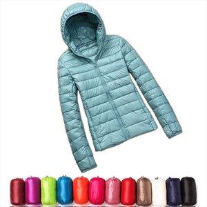 2020 New Casual 90% Ultra Light White Duck Down Jacket Women Autumn Winter Warm Coat Lady Plus Size Jackets Female Hooded Parka