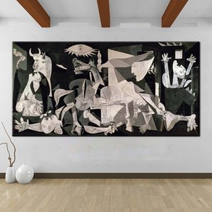 High Quality Handpainted Spain France Picasso Classic Guernica 1937 Germany Figure Art Oil Painting On Canvas Wall Art Home Deco Multi Size1