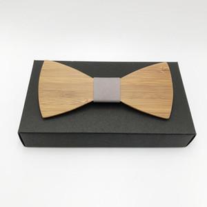 100% реального фото Горячих мод Хорошие Бамбуковые деревянные бабочки для мужских свадебных костюмов Black Wooden Bow Tie бабочка освобождает перевозку груза
