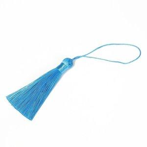 10pcs Tassel Brush Pendant Accessori per orecchini fai da te Gioielli per gioielli da 8 cm Seta satinato nappa fatta a mano Artigianato risultati fornitore h jlldaw