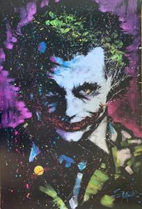 Tuval Wall Art Pictures 201001 tarihinde Joker tarafından Stephen Fishwick Ev Dekorasyonu Handpainted HD Baskı Yağlı Boya