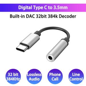 USB Tip C DAC 3.5mm kulaklık Jack Adaptörü Digital Audio Amplifikatör Dönüştürücü HiFi Decode için SAMSUNG Huawei Xiaomi ALC4050 için