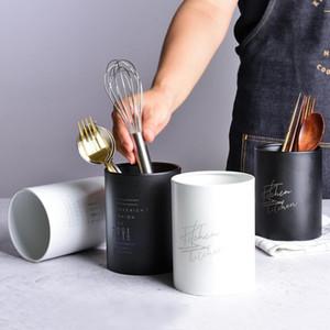 Multifunzione in acciaio inox di stoccaggio scatola bacchette tubo forcella del cucchiaio della coltelleria del supporto dello scolo Utensili da cucina Organizer Tools