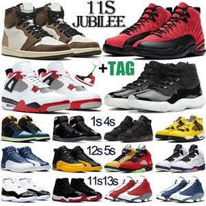 retro 11 1 aj11 حذاء كرة السلة الرجالي Jumpman 11s 1s 4s Fire Red 5s what the 12s Indigo 13s Flint 11 أحذية رياضية رياضية خارجية للرجال