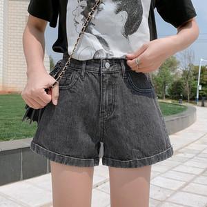 Summer Fashion Vintage Denim Shorts Women Korean Style Casual Loose All Match Crimping Lady Shorts Jeans Short Pants Women