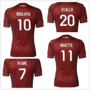 20-21 FC Metz Özelleştirilmiş Tayland Kalitesi Futbol Formaları Özelleştirilmiş Boulaya # 10 Ngquette # 11 Centonze # 18 Diallo # 20 Vagner 27 Maiga 2020 Popula