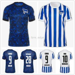 20 21 Hertha BSC Fussball Jersey Piatek 10 duda lowen kopke Mittelstadt Torunarigha Custom 2020 2021 Hertha Berlin Blaues weißes Fußball-Hemd