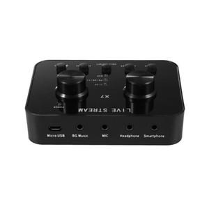 ALLOYSEED X7 PC الصوت USB بطاقة الصوت ميكروفون البث الشبكي الترفيه الملون سماعة للنشل مشاهدة حية
