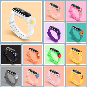 Hot led cartoon doll watch creative children waterproof touch bracelet student electronic watch 21 Style optional