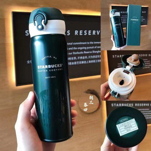 2021 New Style 16OZ Starbucks Thermos Cup Vacuum Flasks Thermos Stainless Steel Insulated Thermos Cup Coffee Mug Travel Bottle