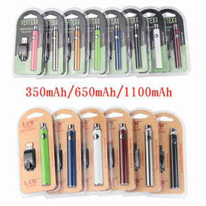 Vertex LAW LO VV Battery Charger Kit 350mAh CO2 Oil Preheat Battery E Cigarettes Vape Pen Fit 510 Atomizers Oil Cartridges Blister Packaging