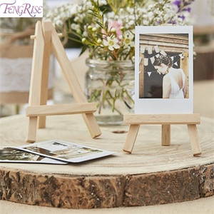 FENGRISE 1PC Place Card Holder Wedding Decoration Wooden Easel 1st Birthday Decor Kids Anniversary Party Supplies