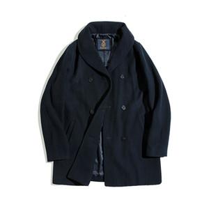 겨울 코트는 모직 자켓을 만듭니다. 양모 혼합물 남성 완두콩 트렌치 코트 자켓 iqoh