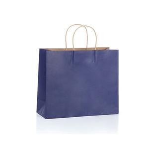 """100 pcs Kraft Paper Retail Shopping Merchandise Party Sacs-cadeaux 12 """"x4"""" x10 """"avec poignées de corde DHD3916"""