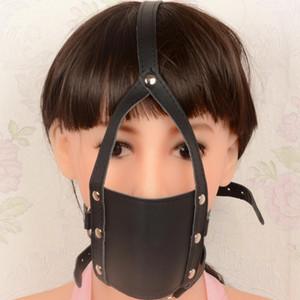 Ikoky restricciones boca sexo gag s924 máscara juego Erótico cabeza juguetes de cuero fetiche juguetes adultos para esclavos abre r arnés ikoky parejas srxs