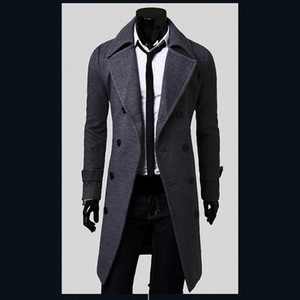 Hot Sale Mens Designer Casaco estilo britânico Trench Outono-Inverno Wool Jacket Windbreaker Overcoat Men Casacos 2M0135