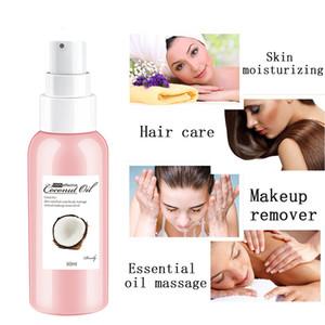 Capelli Cura del corpo olio di cocco Makeup Remover Aromaterapia Skin Care Maschera Massage Oil 50ml MH88