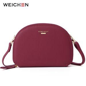 Weichen Nueva Dos bolsos de la capa de diseñador de las mujeres Shell hombro Messenger Bag Bolso de las señoras Sac Mujer Pequeña Cruzado Bolsas 201015