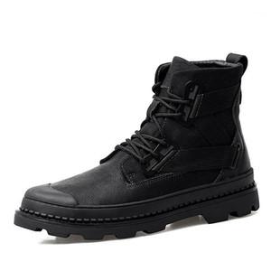 Cevabule tamanho grande tornozelo botas de algodão dos homens novos botas nevado botas dos homens sapatos preto boot de tornozelo clk-11899281
