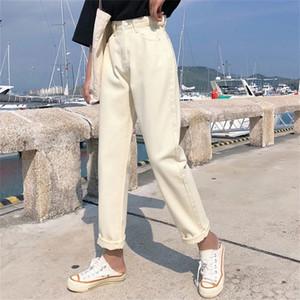 Apricot Jeans Harem Pants High Waist Jeans Woman Plus Size Pantalones Jeans De Mujer Cintura Alta Vintage Blue Jean Femme Casual LJ200819