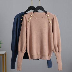 GIGOGOU lusso Pull Womens manica lunga Maglioni Moda lavorato a maglia Pullover maglione Autunno Inverno morbida femmina ponticello a Jersey Pull 201012