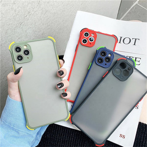 Antiurto Ammortizzatore traslucido PC Duro PC Duro Caso per telefono Soft TPU Cover per iPhone 12 11 Pro Max XR X XS max 6 7 8 Plus 6s